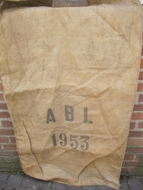 Oude jute zak uit het Belgische leger 1953