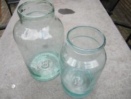 Antieke glazen pot of bokaal 5 liter