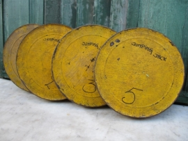 Super cute old yellow film cans