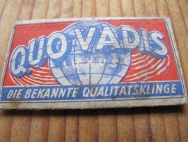 1 scheermesje Quo Vadis