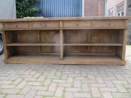 Mooie houten toonbank
