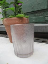 Oud  Frans drinkglas van Planteur de Caiffa