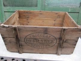 Franse oude chocolade kist