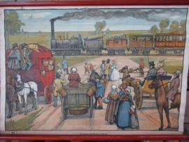 Oude schoolplaat  Spoorweg in België