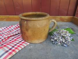 Antieke Franse aardewerk pot