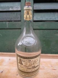 Oude fles met etiket (5 liter)