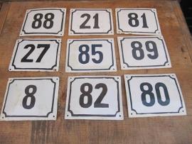 Emaille bordjes met nummer