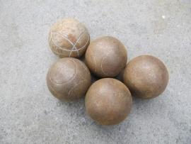 Oude wedstrijd Jeu de Boulles ballen