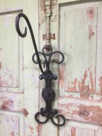 Brocant wrought iron hook