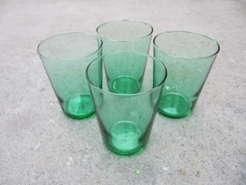 Groene water glaasjes set van 4 stuks