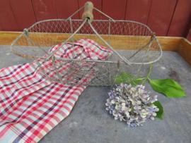 Nice old French metal egg basket