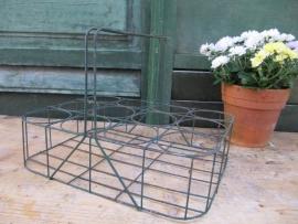 Brocant metalen rek voor 12 glazen