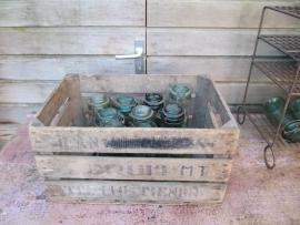 Oude Franse inmaak- of voorraadpot met beugel van Solidex