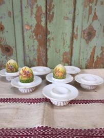 Antieke eierdopjes, set van 7