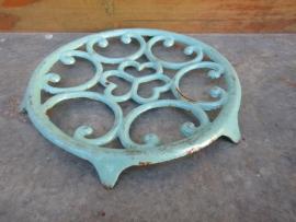 Frans gietijzeren blauw/groen treefje