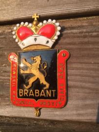 Oud koperen geemailleerd schildje Brabant