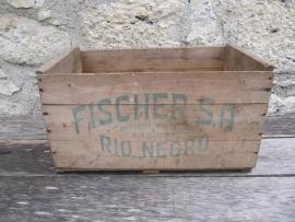 Oude houten kist Fischer S.A. Rio Negro
