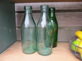 Nice old milk bottles with a capacity of 1 liter