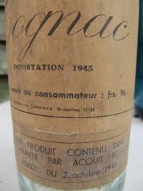 Brocante oude cognac fles