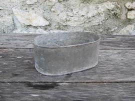 Oud Frans zinken ovaal bakje