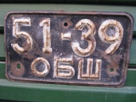 Oude nummerplaat