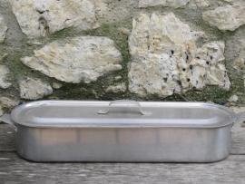 Old big alumium fish pot with lid.