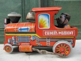 Brocante blikken speelgoed locomotief