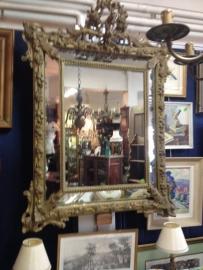 Antieke grote Franse spiegel LodewijkXIV