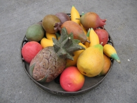Hout decoratie fruit