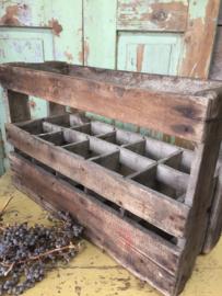 Oude houten flessen krat