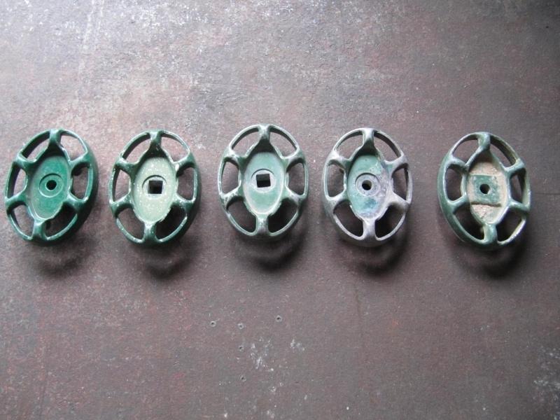 Ovale metalen groene kraangreep