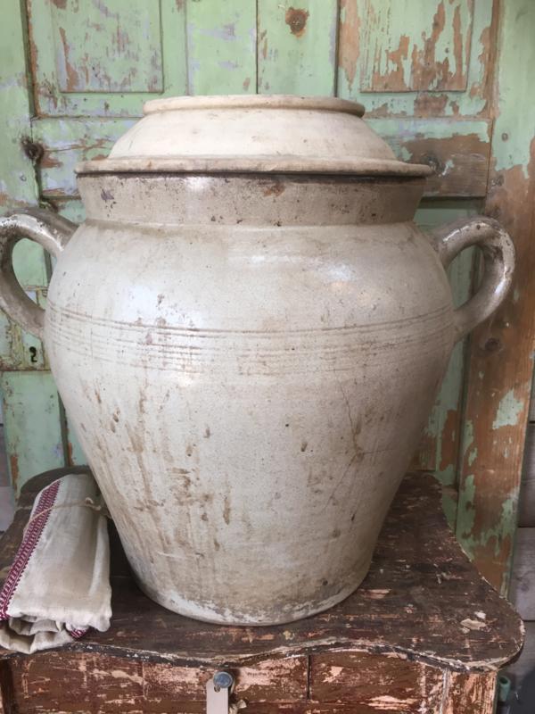 Hedendaags Antieke Franse grote aardewerk pot   Recent verkocht / Sold SK-51
