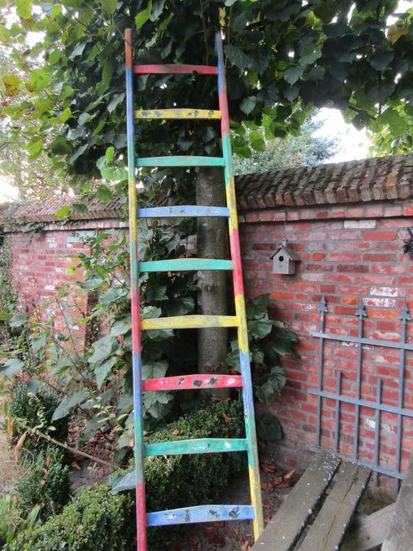 Oude houten ladder