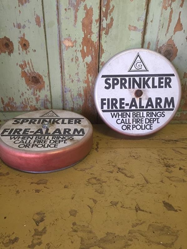 Leuke vintage Sprinkler Alarmbel