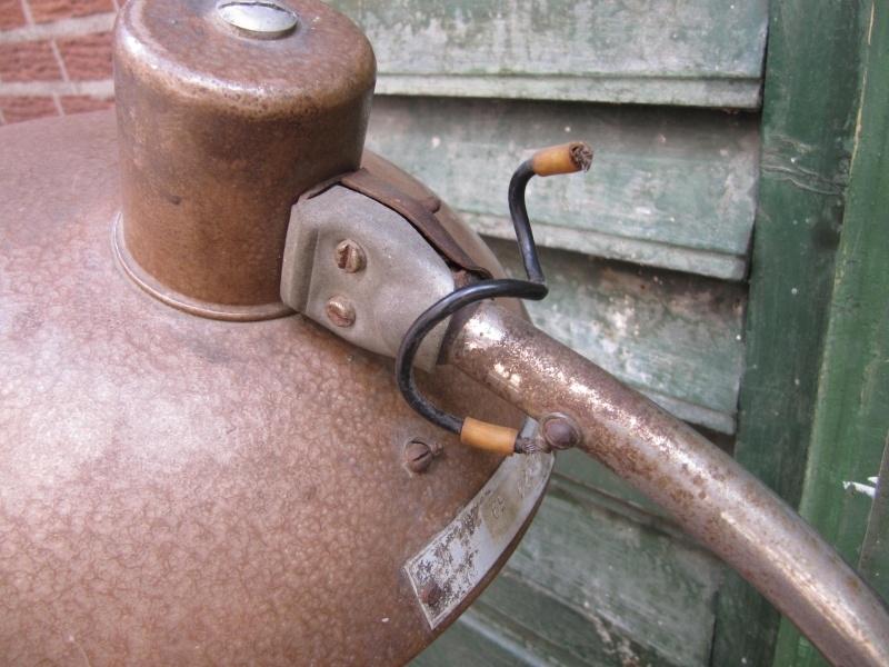Hele oude mooie industriële tafellamp | Recent verkocht