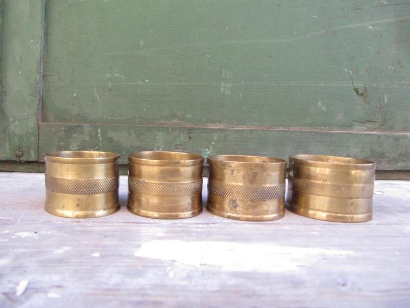 Set van 4 koperen servetringen