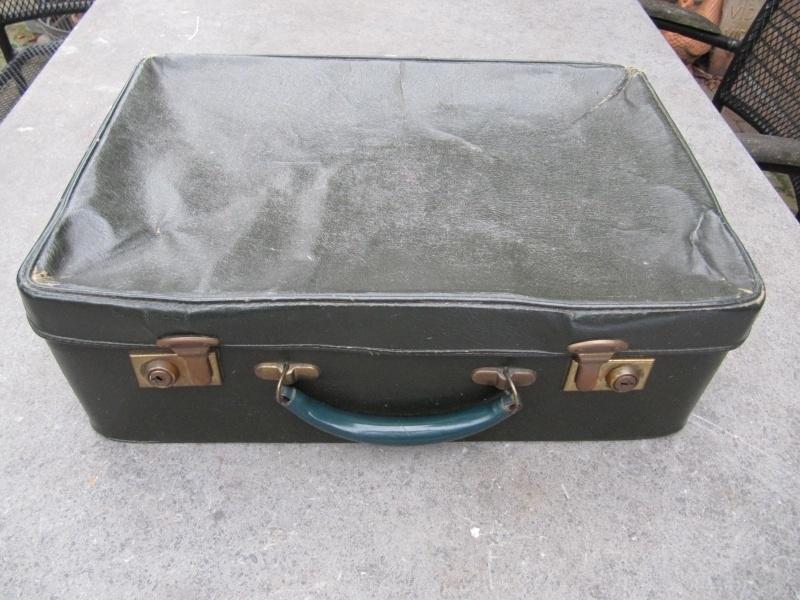 Oud Frans Brocante groen koffertje