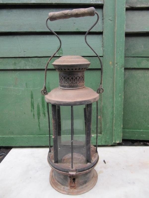 Brocante lantaarn voor kaarsen