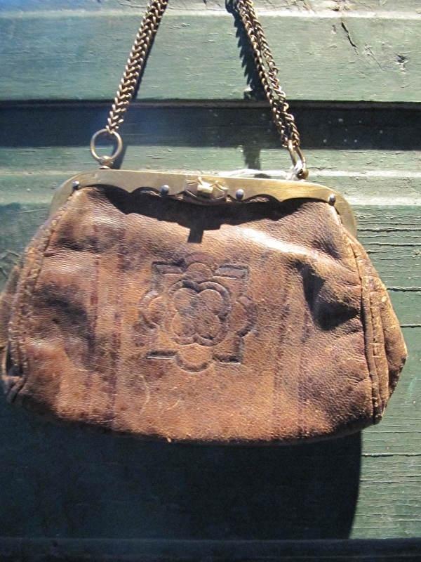 Antieke lederen portemonnaie