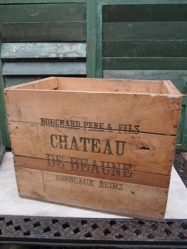 Oude stevige wijnkist Reims/Bourgogne