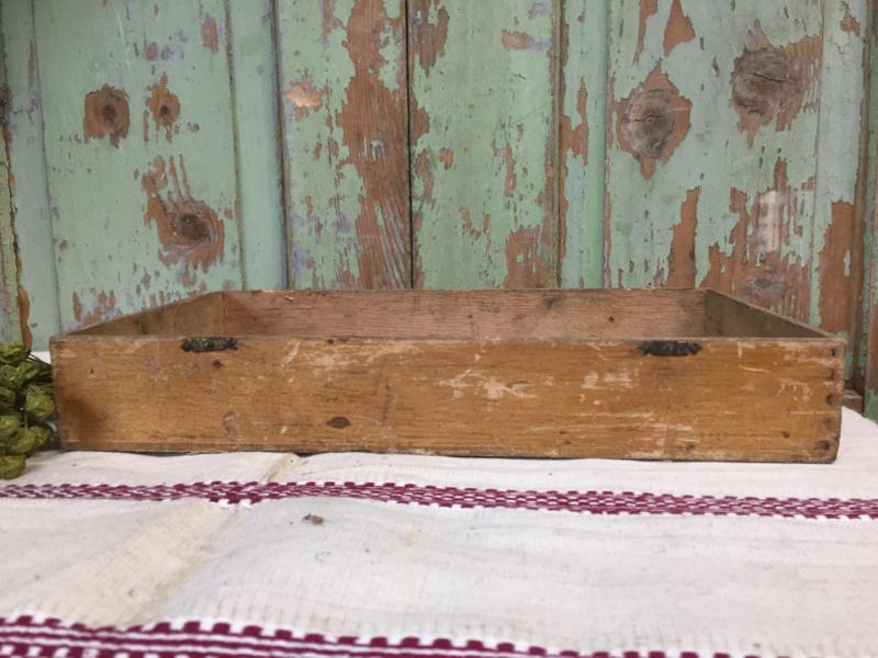 Brocant houten bakje