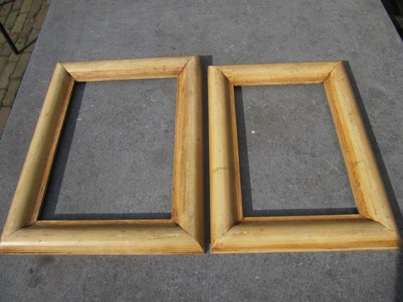 Brocante mooie houten lijst