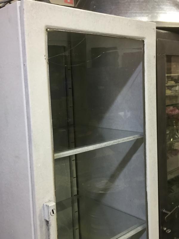 Oude Metalen Witte Apothekers Kast Kastjes En Kasten