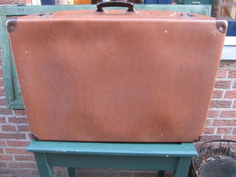 Brocante bruine Franse koffer