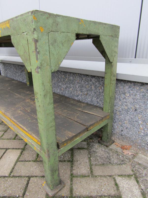 Oude Industriele Tafel.Oude Industriele Werkbank Tafel Recent Verkocht Sold