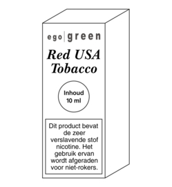 Ego Green liquid Red USA Tobacco