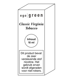 Ego Green liquid Classic Virginia Tobacco