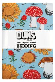 Jumpsuit DUNS Sweden, Sunflowers and Mushrooms Sky blue