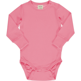 Romper / bodysuit LS Meyadey by Maxomorra,  Sea pink