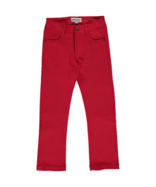 Broek / Pants Maxomorra, Twill Red 134-140